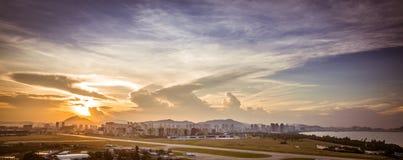Sanya sunrise. Sunrise in the Sanya city, Hainan - tropical island in China Royalty Free Stock Photos