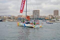Sanya um concorrente famoso da raça do oceano de Volvo Imagem de Stock