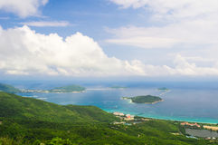 Sanya Yalong Bay, view from mountain Royalty Free Stock Photos