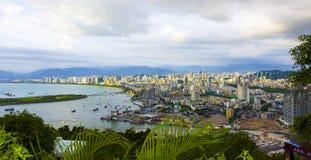 Sanyastad op Hainan-eiland stock foto's