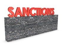 sanzioni Fotografia Stock Libera da Diritti
