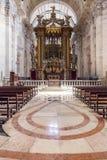 Sao barrocco Vicente de Fora della chiesa del baldacchino dell'altare Immagine Stock