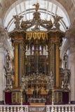 Sao barroco Vicente de Fora Lisbon del baldaquín del altar Imagen de archivo libre de regalías