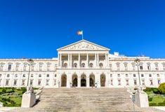 Sao Bento Palace della costruzione del Parlamento di Lisbona Immagine Stock Libera da Diritti