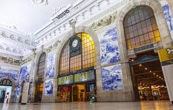Sao Bento Railway Station à Porto, Portugal Photos stock