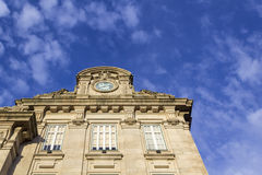 Sao Bento Railway Station facade detail in Porto city. Royalty Free Stock Photo