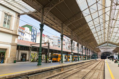 Sao Bento Railway Station in Porto city, Portugal Royalty Free Stock Photography