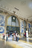 Sao bento railway station porto portugal Royalty Free Stock Images