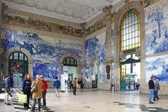 Sao Bento railway station in Porto Royalty Free Stock Photos