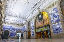 Sao Bento Railway Station in Porto, Portugal Royalty Free Stock Photos