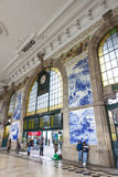 Sao Bento Railway Station in Porto, Portugal Royalty Free Stock Photography
