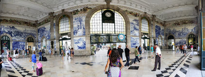 Sao Bento Railway station in Porto royalty free stock photography