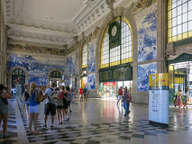Sao Bento Station, Porto Stock Photos