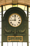 Sao Bento Train Station Clock. Porto. Portugal Royalty Free Stock Images