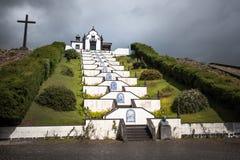 Sao blanco Miguel Portugal de Azores de la iglesia de la capilla Fotos de archivo libres de regalías