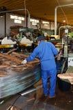 SAO BRAS DE ALPORTEL, ALGARVE/PORTUGAL - MARCH 9 : Cork Factory. In Sao Bras de Alportel, Algarve Portugal on March 9, 2018. Unidentified person stock images