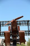 Replica seaplane monument. SAO BRAS DE ALPORTEL, PORTUGAL: 30th april, 2017 - First aerial crossing of the South Atlantic made by Gago Coutinho and Sacadura Stock Photos