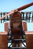 Replica seaplane monument. SAO BRAS DE ALPORTEL, PORTUGAL: 30th april, 2017 - First aerial crossing of the South Atlantic made by Gago Coutinho and Sacadura Royalty Free Stock Image