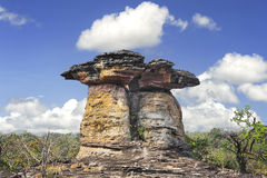 Sao Chaliang, rocce tipo fungo che sono state erose dall'acqua Fotografie Stock