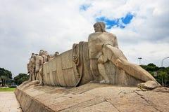 sao de Paulo de monument du Brésil de bandeiras Photographie stock libre de droits