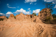 Sao Din Na Noi in Nan province, Thailand. Due to soil erosion of Rain and wind naturally Royalty Free Stock Images