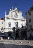 Sao Domingos church in Lisbon Stock Images