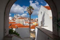 Sao famoso Vicente de Fora Monastery em Lisboa Fotografia de Stock