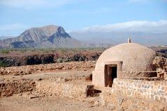 Sao Felipe de Fortaleza, console de Tiago do Sao, Cabo Verde Foto de Stock Royalty Free