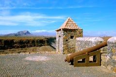 Sao Felipe, isla de Tiago del sao, Cabo Verde de Fortaleza Foto de archivo libre de regalías