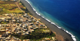 Sao Filipe from the air Royalty Free Stock Photography