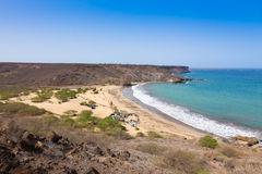 Sao Francisco beach in Santiago in Cape Verde - Cabo Verde Royalty Free Stock Photos