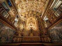 Sao Francisco Church ed altare del convento, Salvador da Bahia, Brazi Immagine Stock