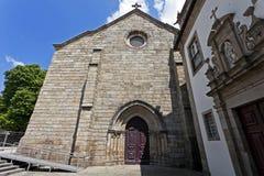 Sao Francisco Church, Guimaraes, Portugal. Sao Francisco Church and Lar de Sao Francisco retirement home in Guimaraes, Portugal. Church is in the Mendicant Stock Images