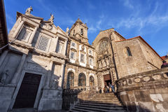 Sao Francisco Church, right, 14th century Gothic architecture Stock Image