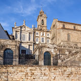 Sao Francisco Church, right, 14th century Gothic architecture Royalty Free Stock Photography