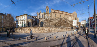 Sao Francisco Church. 14th century Gothic architecture Royalty Free Stock Photography