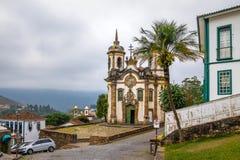 Sao Francisco de Assis Church dans Ouro Preto - Minas Gerais, Brésil Photos libres de droits