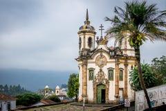 Sao Francisco de Assis Church dans Ouro Preto - Minas Gerais, Braz Photos libres de droits