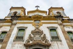 Sao Francisco De Assis Kościelny Fasadowy szczegół - Mariana, minas gerais, Brazylia obrazy royalty free