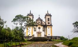 Sao Francisco De Paula Church ,ouro preto in brazil Stock Images