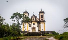 Sao Francisco De Paula Church ,ouro preto in brazil Royalty Free Stock Photography