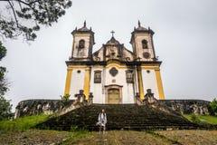 Sao Francisco De Paula Church ,ouro preto in brazil Stock Photography