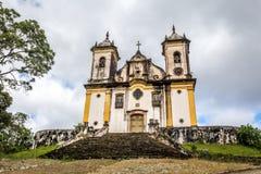 Sao Francisco De Paula Church ,ouro preto in brazil Stock Photos