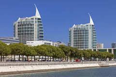 Sao Gabriel and Sao Rafael Towers - Lisbon Royalty Free Stock Photo