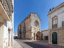 Sao Joao de Alporao Church, built by the Crusader Knights of Hospitaller or Malta Order. Stock Images