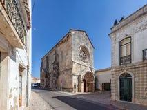 Sao Joao de Alporao Church som byggs av korsfarareriddarna av Hospitaller eller Malta beställning Arkivbilder