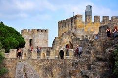 Sao Jorge Castle Stockbilder
