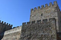 Sao Jorge Castle en Lisboa Foto de archivo libre de regalías