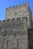 Sao Jorge Castle en Lisboa Imagen de archivo