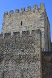 Sao Jorge Castle en Lisboa Imágenes de archivo libres de regalías